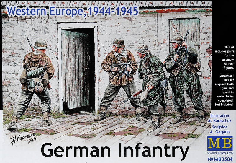 1/35 German Infantry, Western Europe, 1944-1945 - Hobby Sense