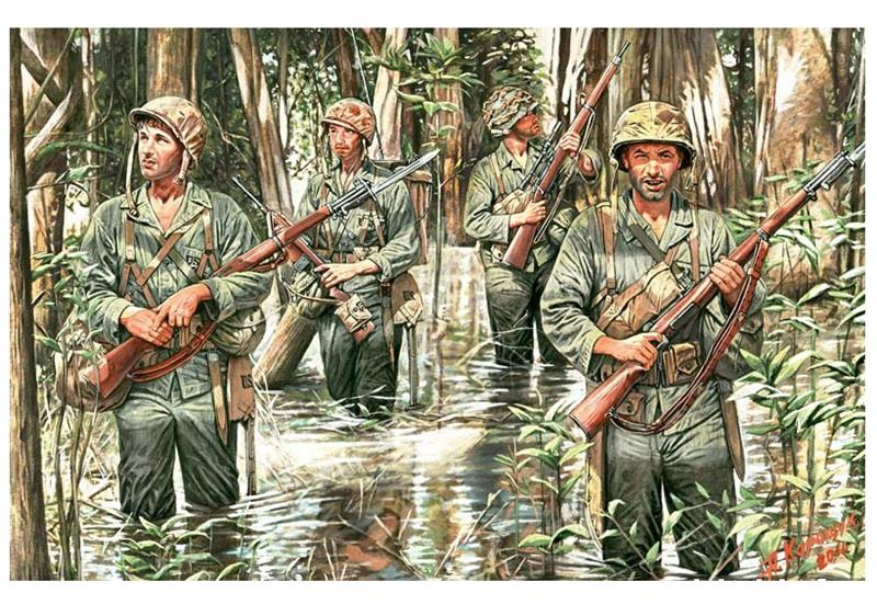 U.S. Marines in jungle, WWII era - Hobby Sense