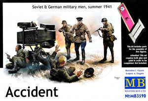 Accident. Soviet & German military men, summer 1941 - Hobby Sense