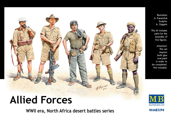 Allied Forces. North Africa desert battles series - Hobby Sense