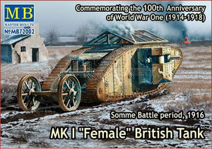 "Mk I ""Female"" British tank, Somme battle, 1916 - Hobby Sense"