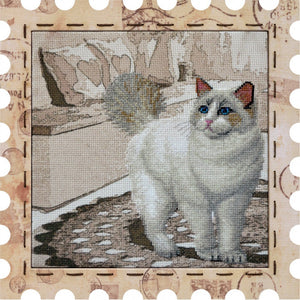 Snowball cross stitch kit