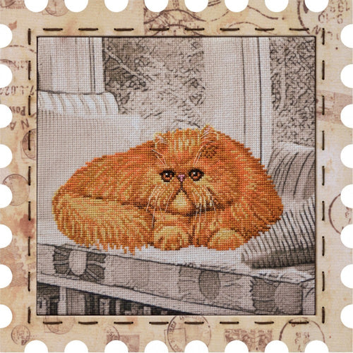 Cat Tsar cross stitch kit