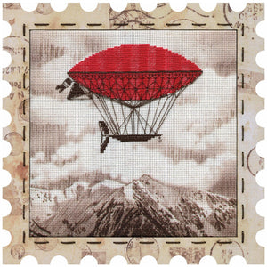 Airship cross stitch kit