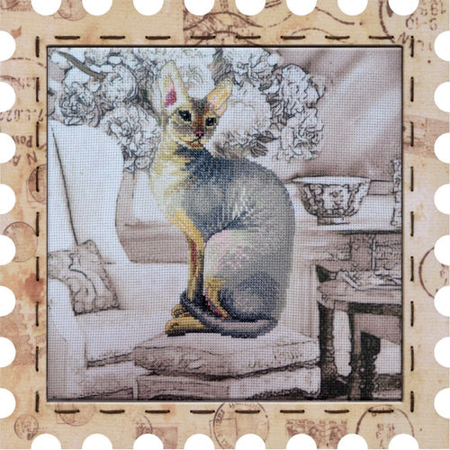 Cleopatra cat cross stitch kit