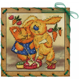 "Post Card Embroidery Kit ""Gift For Two Persons"" - Hobby Sense"