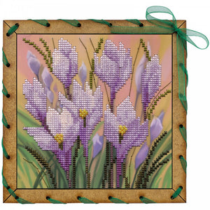 "Post Card Embroidery Kit ""Saffron"" - Hobby Sense"
