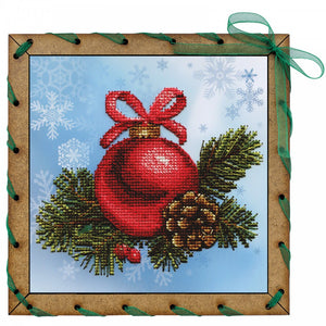 "Post Card Embroidery Kit ""New Year Ball"" - Hobby Sense"