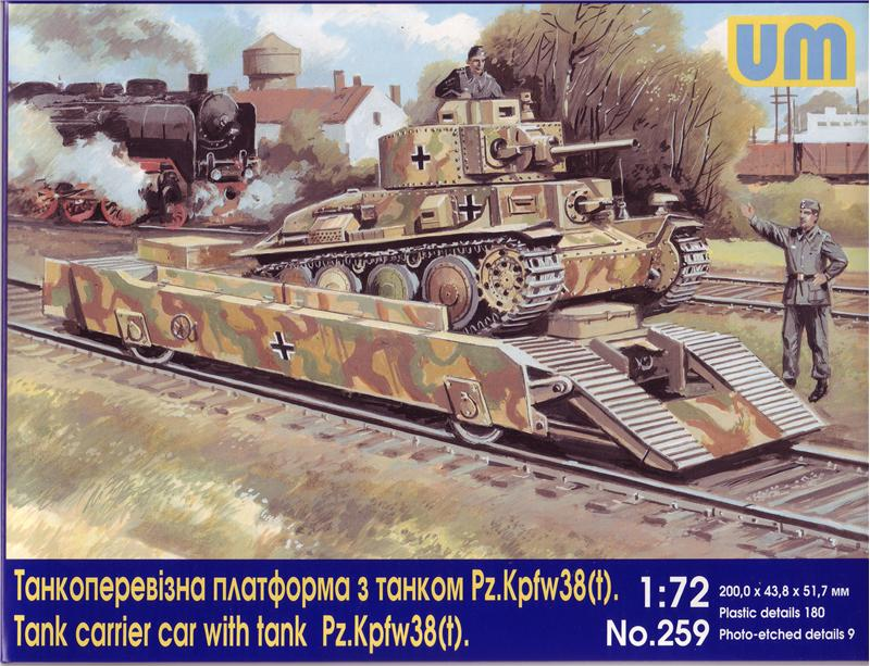 Tank carrier car with Pz.Kpfw 38(t) tank - Hobby Sense