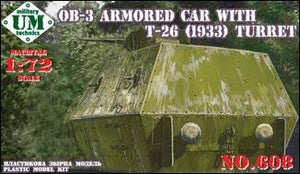 OB-3 armored railway carriage with T-26 turret - Hobby Sense