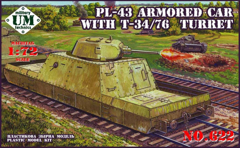 PL-43 armored car with T-34/76 turret - Hobby Sense