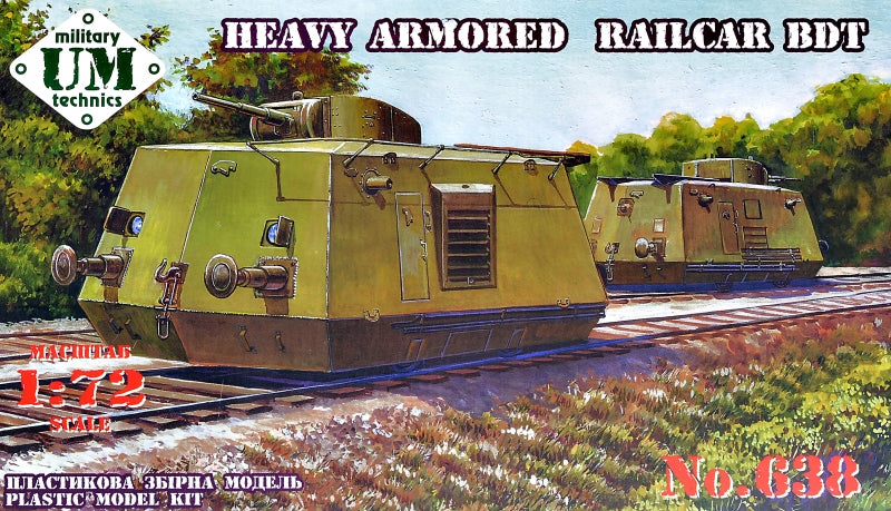 Heavy Armored Railcar BDT - Hobby Sense