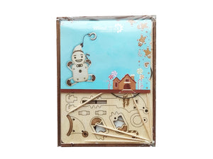 "Mechanical 3D puzzle WOODIK ""Gingerbread"" - Hobby Sense"
