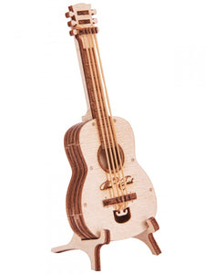 "Mechanical 3D puzzle WOODIK ""Guitar"" - Hobby Sense"