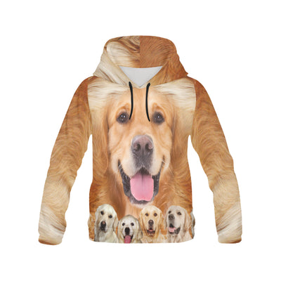 Golden Retriever Awesome All Over Print Hoodie