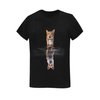 Dog - fox dreaming Sunny Women's T-shirt(USA Size) (Model T01)