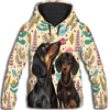 Dachshund Leaves 1 All Over Print Hoodie ZEUS100101