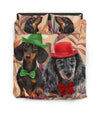 Dachshund Orange Pattern Bedding ZEUS10011