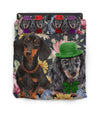 Dachshund Red Hat Bedding ZEUS10012