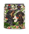 Dachshund Green Leaf Bedding ZEUS10014