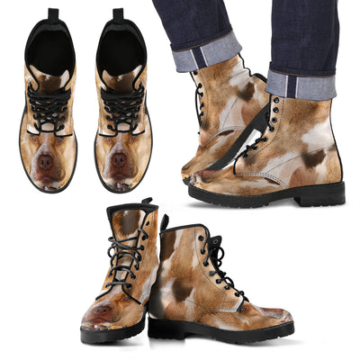 American Pit Bull Terrier Awesome Leather Boot ZEUS121262
