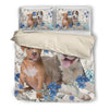 American Pit Bull Terrier Green Flower Bedding ZEUS090104