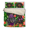 Dachshund Green Pattern Bedding ZEUS10013