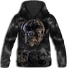 Black Pug Awesome All Over Print Hoodie HEMERA261201