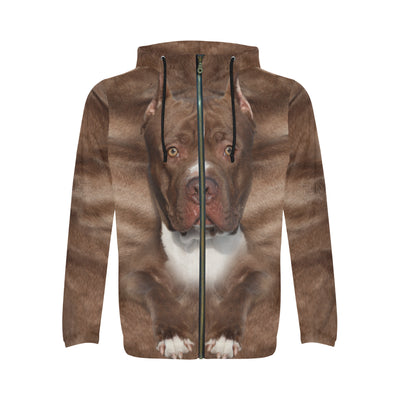 American Pit Bull Terrier Face All Over Print Full Zip Hoodie ZEUS271202