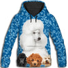 Poodle Pattern All Over Print Hoodie GAEA191276
