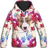 Bull Terrier Red Flower All Over Print Hoodie ZEUS11014