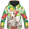 Bull Terrier Yellow Pattern All Over Print Hoodie ZEUS11012