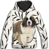 Saint Bernard Flower Pattern 2 All Over Print Hoodie ZEUS1201