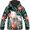 Bull Terrier Long Green All Over Print Hoodie ZEUS11013