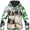 Saint Bernard Flower Pattern 4 All Over Print Hoodie ZEUS1201