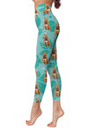 Pit Bull Flower Pattern 1 Low Rise Leggings ZEUS1701
