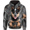Australian Cattle Dog Face All Over Print Full Zip Hoodie ZEUS281217