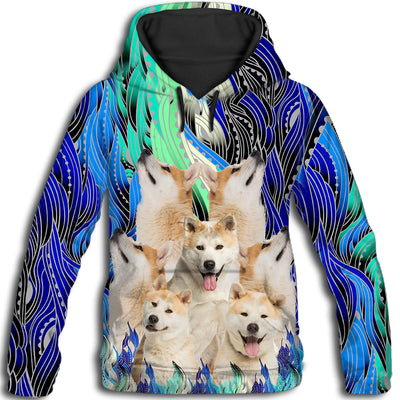 Akita Flower Pattern 4 All Over Print Hoodie ZEUS1101