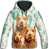 Pit Bull Flower Pattern 1 All Over Print Hoodie ZEUS1701