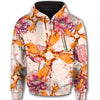 Pit Bull Flower Pattern 2 All Over Print Full Zip Hoodie ZEUS1601
