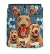 Pit Bull Flower Pattern Bedding 2 ZEUS1601