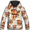 Yorkshire Terrier Flower Pattern 1 All Over Print Hoodie ZEUS1001