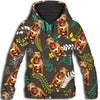 Pit Bull Flower Pattern 3 All Over Print Hoodie ZEUS1701