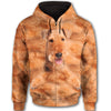 Airedale Terrier Face All Over Print Full Zip Hoodie ZEUS020137