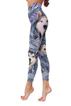 Siberian Husky Flower Pattern 2 Low Rise Leggings ZEUS1001