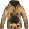 Shar Pei Awesome All Over Print Hoodie