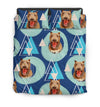 Pit Bull Flower Pattern Bedding 1 ZEUS1601