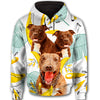 Pit Bull Flower Pattern 3 All Over Print Full Zip Hoodie ZEUS1601