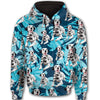 Dalmatian Flower Pattern 4 All Over Print Full Zip Hoodie ZEUS1601