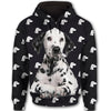 Dalmatian Flower Pattern 1 All Over Print Full Zip Hoodie ZEUS1601